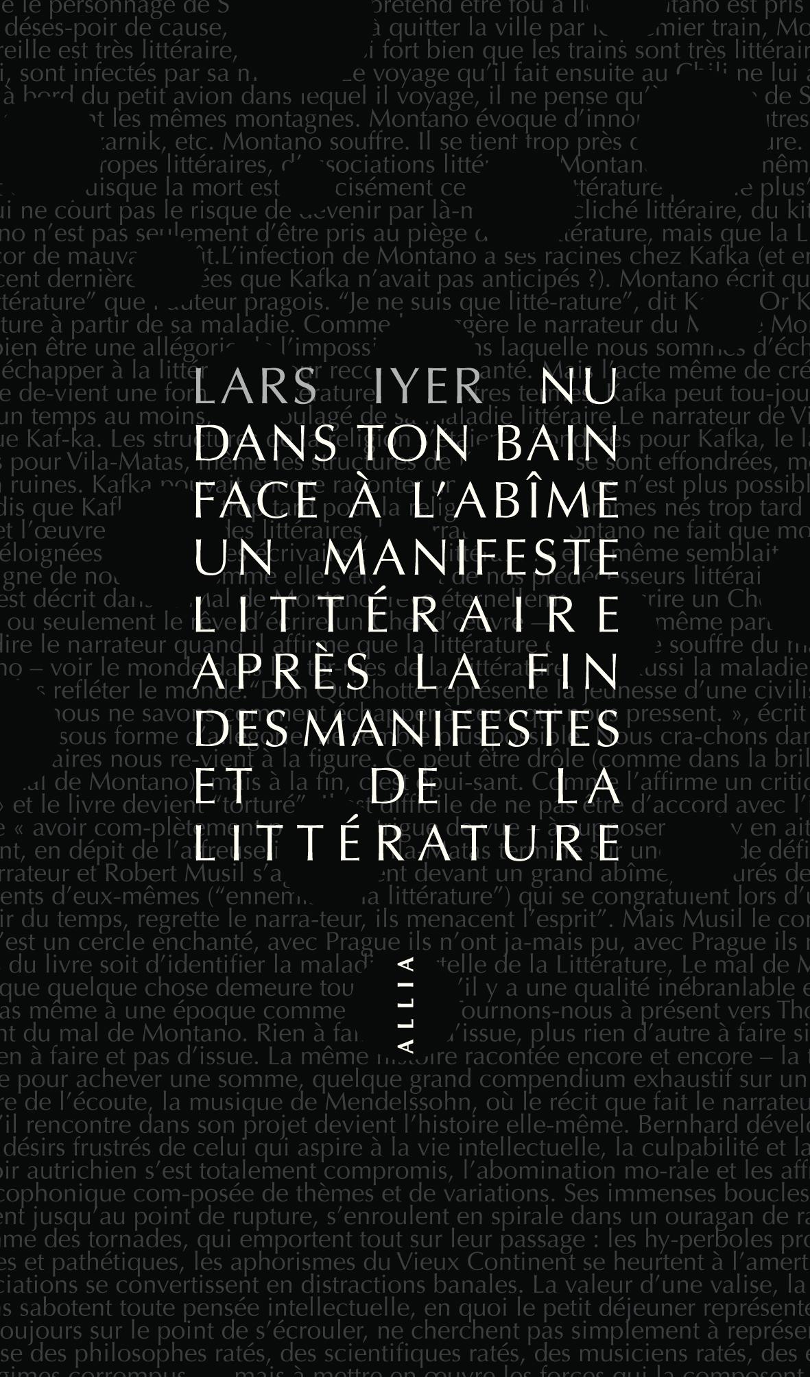 Editions Allia Livre Nu Dans Ton Bain Face A L Abime